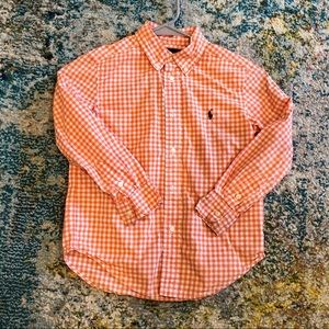 Ralph Lauren long sleeved button down size 6 EUC